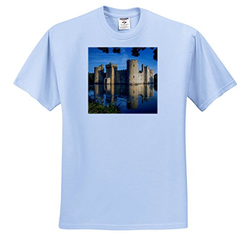 Danita Delimont - Castles - Dawn at Bodiam Castle, Bodiam, Robertsbridge, East Sussex, England - T-Shirts - Light Blue Infant Lap-Shoulder Tee (12M) (Sussex 12 Light)