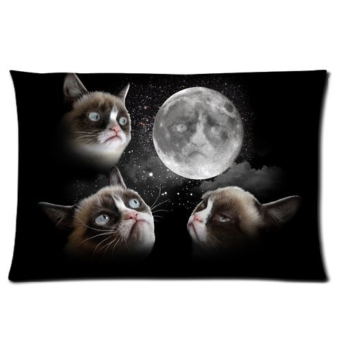 Galaxy Space Grumpy Cat Personalized Rectangle Pillowcase 24x16 inches (one side)