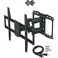 USX MOUNT XML006K Full Motion Swivel Articu lating TV Wall Mount for 42-70 Inch LED, LCD, OLED, 4K TVs-Fits for 50, 55, 65 TV With VESA 200x100 to 600x400mm-Weight Capacity Up to 99lbs, Fits 16 Stud