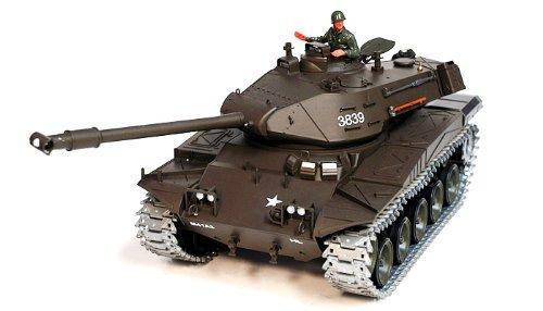 2.4Ghz Radio Control 1/16 U.S M41A3 Walker Bulldog Sound and Smoke Air Soft Rc Battle Tank (Upgrade Version w/Metal Gear & Tracks) (Bulldog Tank)