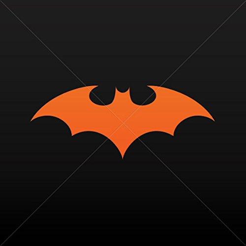Decal Stickers Batman Decor Room Durable Decoration Waterproof Racing Orange (16 X 6.43 In)