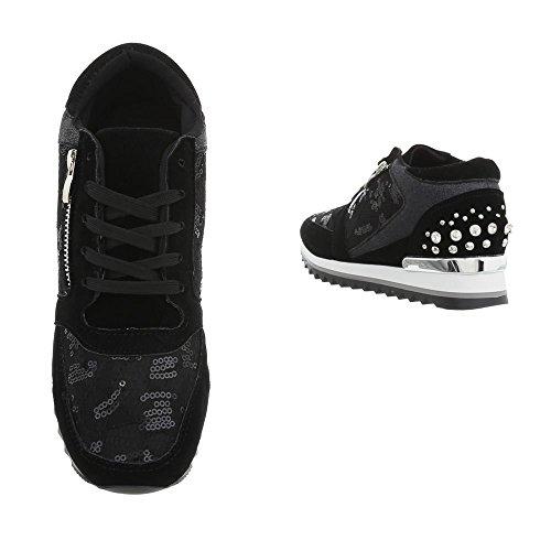 Zeppa Ital Sneakers High Sneaker Donna design G Da 123 Nero Scarpe xSwrSXq4