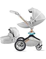 Baby Stroller 360 Rotation Function,Hot Mom Baby Carriage Pushchair Pram 2019,Grey
