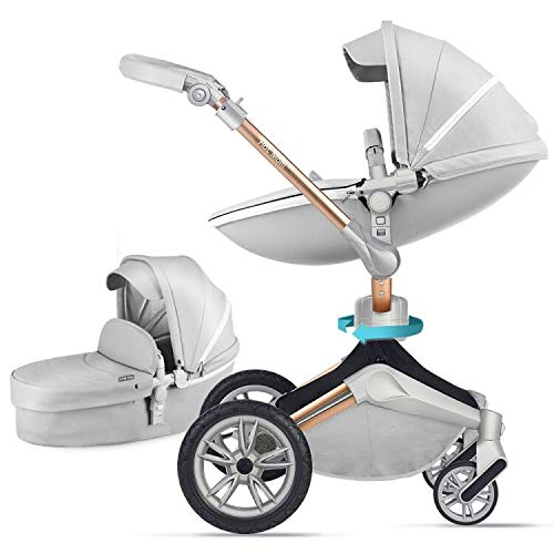 Baby Stroller 360 Rotation Function,Hot Mom Baby Carriage Pushchair Pram 2020,Grey