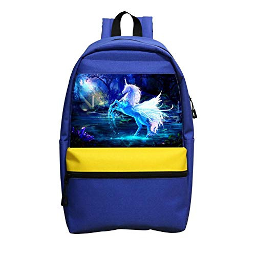 B1TS Cool Unicorn In The Moonlight Backpack School Bags Kids Boys Girls Students Handbags Travel bag