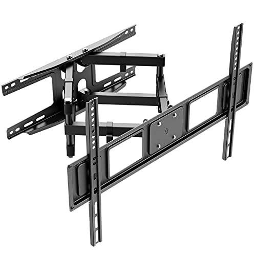 TV Wandhalterung Schwenkbar Neigbare Fernseher Halterung für 37-80 Zoll Fernseher Flach & Curved LCD/LED Vollbewegung - 40kg Tragfähigkeit,Max VESA 600x400mm