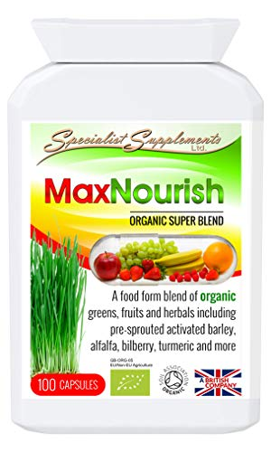 Specialist Supplements MaxNourish Organic 100 Capsules