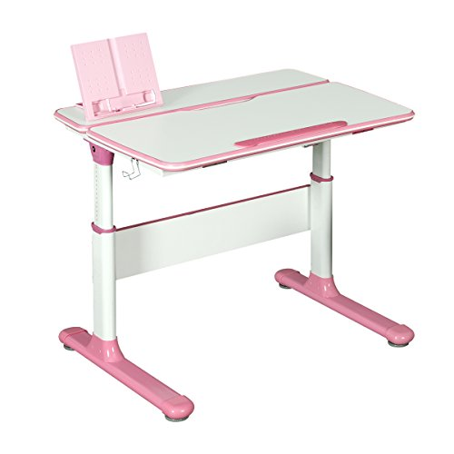 WLIVE Ergonomic Height Adjustable Children's Study Computer Desk and Chair Set (Pink-31.9'' W (Desk Only)) by WLIVE