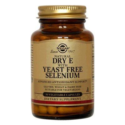 Solgar Vitamine E avec de la levure de sélénium-Free Capsules végétales 100