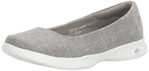 Skechers Performance Women's Go Step Lite-Blush Walking Shoe, Gray, 7 M US