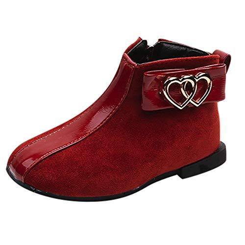 (Foncircle Baby Kids Fashion Martin Sneaker Shoe Thick Heel Zipper Ankle)