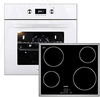 Bosch - Horno de vitrocerámica, color blanco: Amazon.es: Grandes electrodomésticos