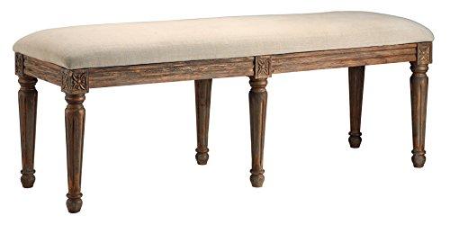 Stein World Furniture Sinclair Accent Bench, Antique Drift Wood (Wood Stein Furniture)