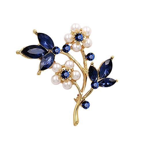 - litymitzromq Brooch Lapel Pins, Women Faux Pearl Rhinestone Petals Flowers Brooch Pin Jewelry Clothing Accessory  for DIY Clothing Bags Backpacks Jackets Hat