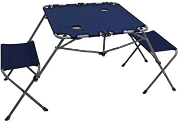 Ozark Trail 2-In-1 Two Seats Table Set with Two Cup Holders