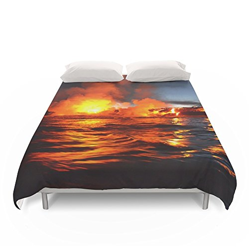 Society6 Kilauea - Hawaii Duvet Covers King: 104'' x 88'' by Society6