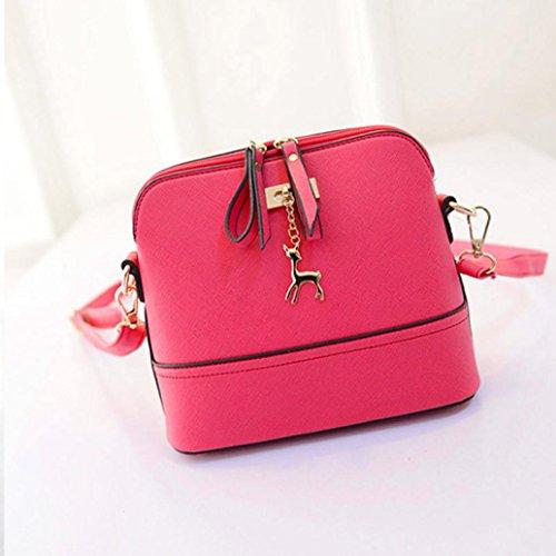 Tote Leather Satchel Phone Crossbody Messenger Bag Women Bag Shoulder Mobile Handbag Pink Purse Mini qYwzZU