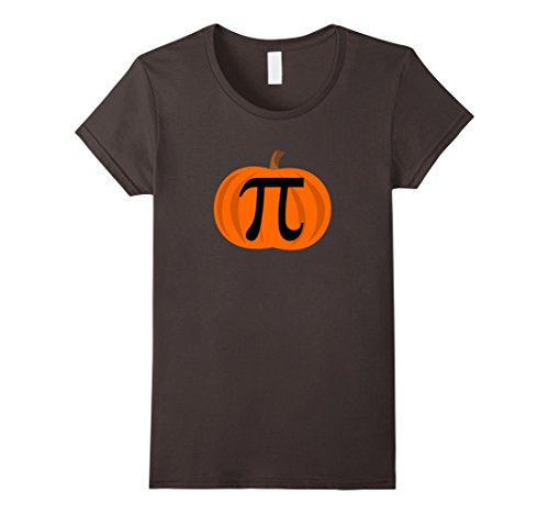 [Womens Pumpkin Pi 3.14 Funny Halloween Costume Shirts Large Asphalt] (Homemade Adult Halloween Witch Costumes)