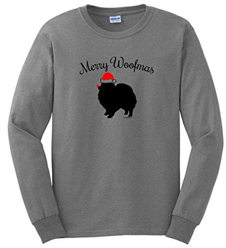 Woofmas Pomeranian Christmas Sleeve T Shirt