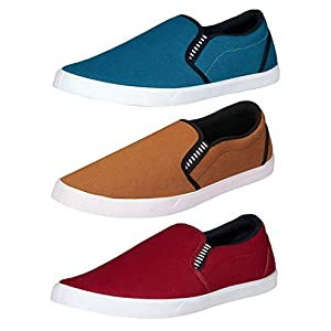 Chevit Men's Combo Pack of 3 Casual Shoes (Loafers and Mocassins)