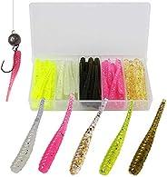 Glow Shrimp Lure Soft Plastic Fishing Lures Bait Saltwater Freshwater Shrimp Lure Worms Grub Shrimp Soft Bait