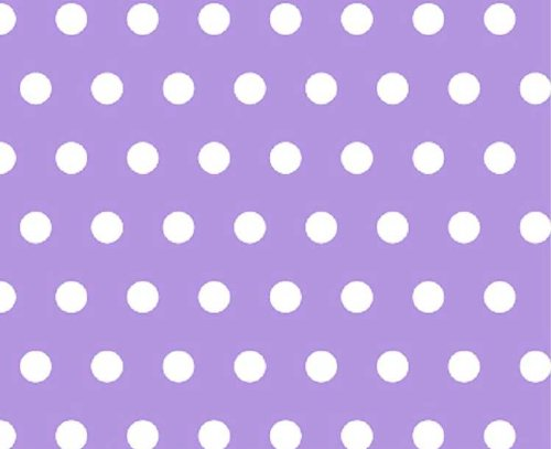 SheetWorld Fitted Portable/Mini Crib Sheet - Polka Dots Lavender - Made In USA