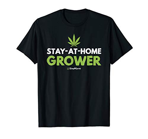 (stay at home grower weed marijuana hemp wizards t-shirt)