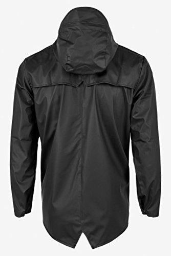 Negro Hombre Jacket Impermeable Rains para qwxZ7BgnSW