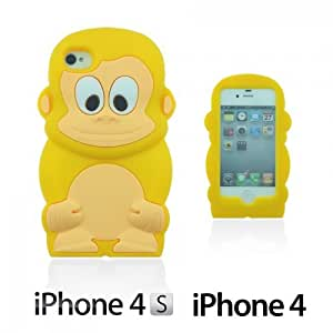 OnlineBestDigital - Monkey Style 3D Silicon Case for Apple iPhone 4S / Apple iPhone 4 - Yellow