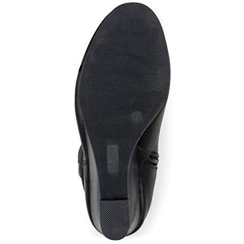 Brinley Co Womens Star Slouch Boot Regular E Wide Black Vitello