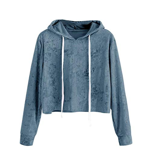 Kumike Fashion Womens Long Sleeve Hoodie Sweatshirt Jumper