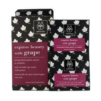 Apivita Express Beauty Anti-Wrinkle Eye Mask with Grape - 6x(2x2ml) - Apivita Skin Mask
