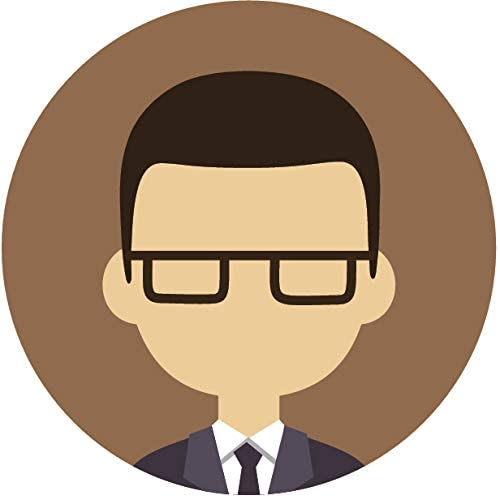 Amazon Com Simple Professional Cartoon Profile Portfolio Picture Icon Emoji Vinyl Sticker 8 Wide Black Hair Man With Glasses Brown Automotive