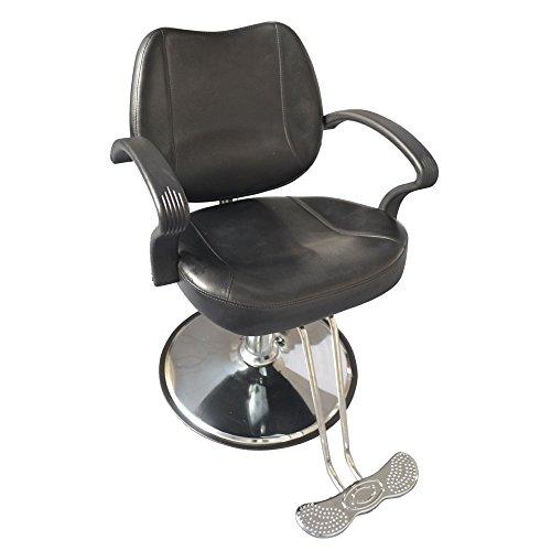 Z ZTDM Salon Classic Hydraulic Barber Chair Reclining Beauty Spa Equipment, Heavy Duty All Purpose Round Black