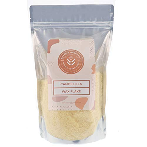 Maker and Merchant 100% Pure Candelilla Wax (1lb)- Sustainable, Vegan, Perfect for DIY Skincare ()