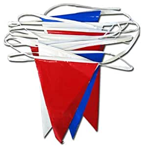 Red, White and Blue - 30' Plastic Pennant
