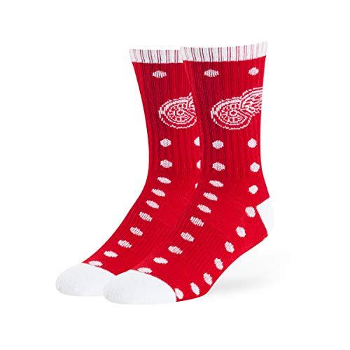 (OTS NHL Detroit Wings Male Lucelle Sport Socks, Red, Medium)