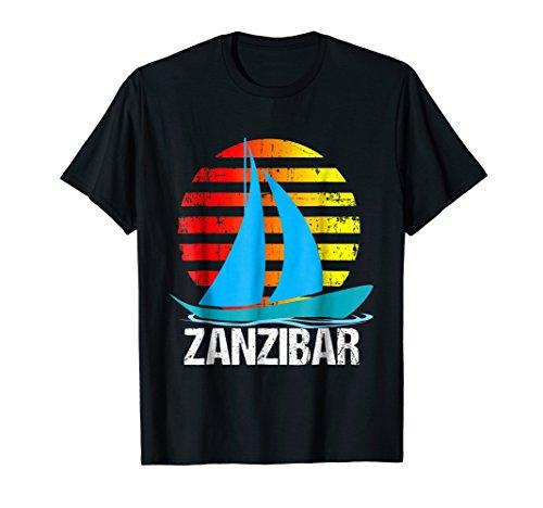 Zanzibar Sailing T-Shirt Sunset Sailboat Vacation Gift