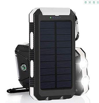 XYLUCKY Cargadores Solares, 10000Mah Banco De Energía Solar ...