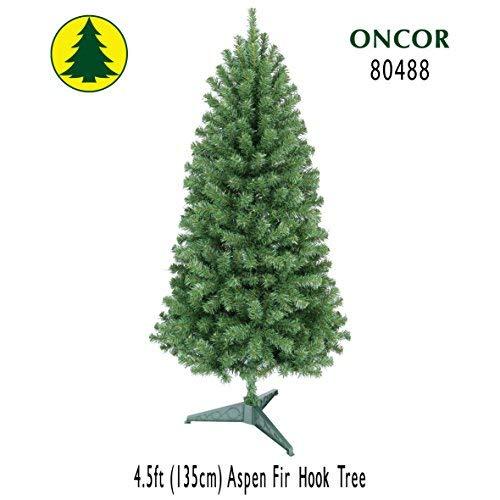 (Oncor 4.5ft Eco-Friendly Aspen Fir Christmas Tree)
