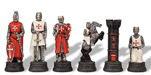 Crusade Knights Theme Chess Set by The Chess Store