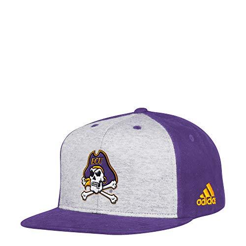 adidas NCAA East Carolina Pirates Flat Brim Snapback Hat, One Size, Purple