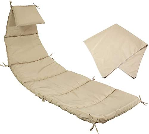 Sunnydaze Outdoor Hanging Lounge Chair Replacement Cushion and Umbrella Fabric