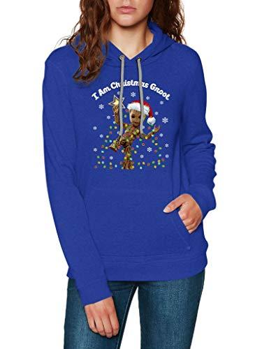 MD21 Gifts I Am Christmas Groot - Sudadera con Capucha Unisex, diseño navideño, Estilo clásico, Estilo clásico,...
