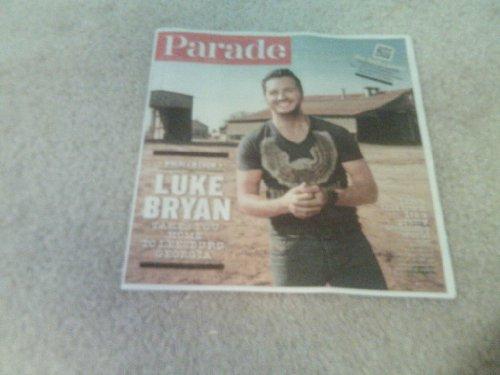 Parade magazine, April 6, 2014-Luke Bryan Takes You Home To Leesburg, - Stores Leesburg