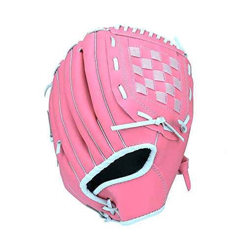 (RongSa Leather Baseball Glove for Kid/Youth/Adult(Right Hand Throw)(Pink))