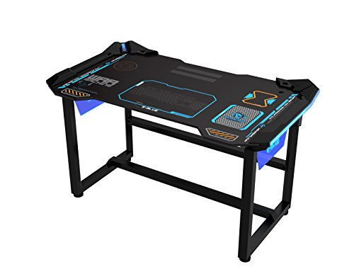 E-Blue USA Wireless Glowing LED PC Gaming Desk Table (Small(EGT523))