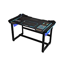 E-Blue USA Wireless Glowing LED PC Gaming Desk Table (Large(EGT515))
