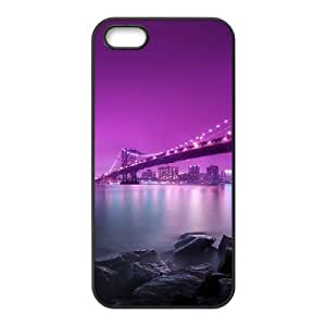 A lonely bench in Brooklyn Bridge iPhone 4 4s Cell Phone Case Black