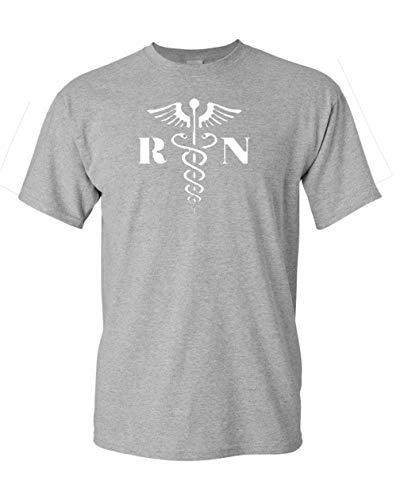 - Got-Tee - RN Nurse Registered Nurse Medical Service T-Shirt (Small, Gray)